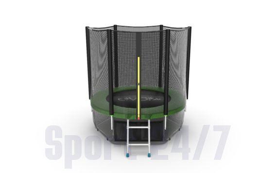 EVO JUMP External 6ft (Green) + Lower net. Батут с внешней сеткой и лестницей, диаметр 6ft (зеленый) + нижняя сеть