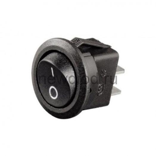 Выключатель клавишный круглый 250V 6А (2с) ON-OFF черный  REXANT