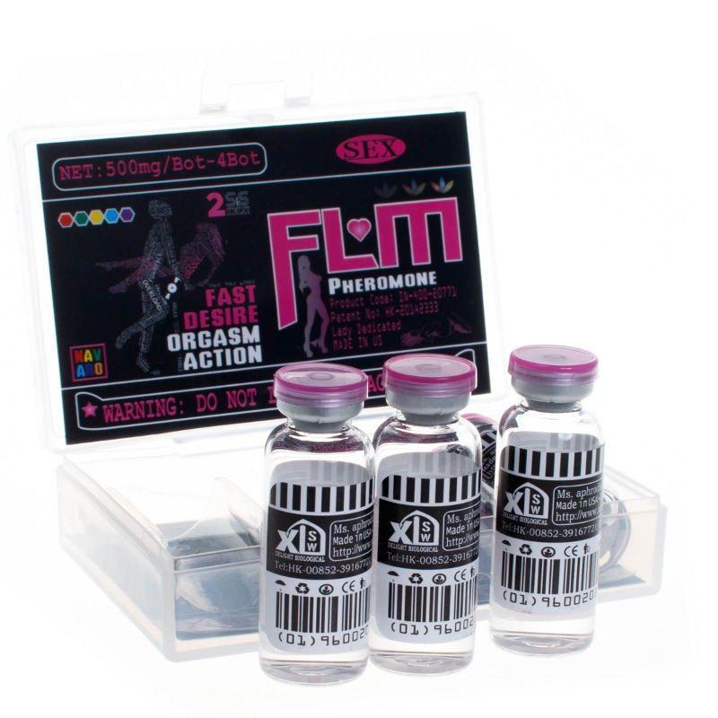 FLM Feromone (сильный женский возбудитель) капли без цвета и вкуса (4 фл.)