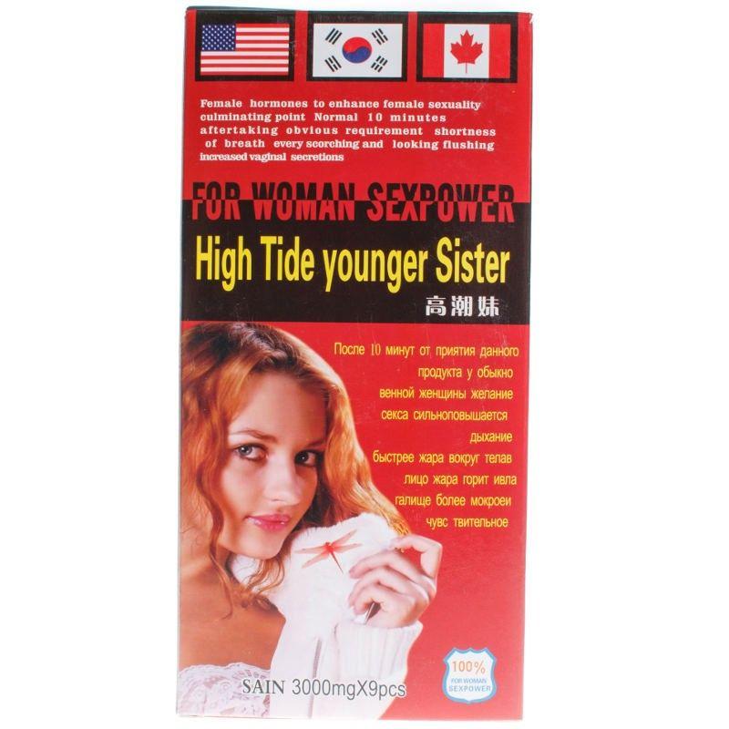 High Tide Younger Sister (растительный состав) возбуждающая жидкость для женщин (1 фл.)