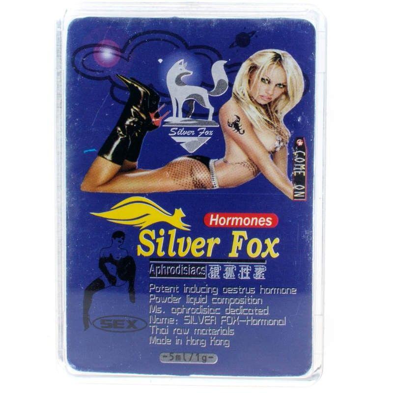 Silver Fox Hormones (женские афродизиаки) эффективный возбудитель для женщин (1 уп. 2 фл.)