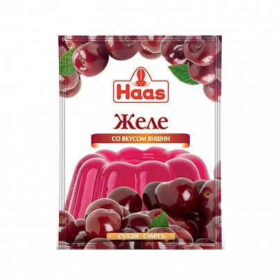 ХААС Желе десертное со вкусом вишни сухая смесь 50 г