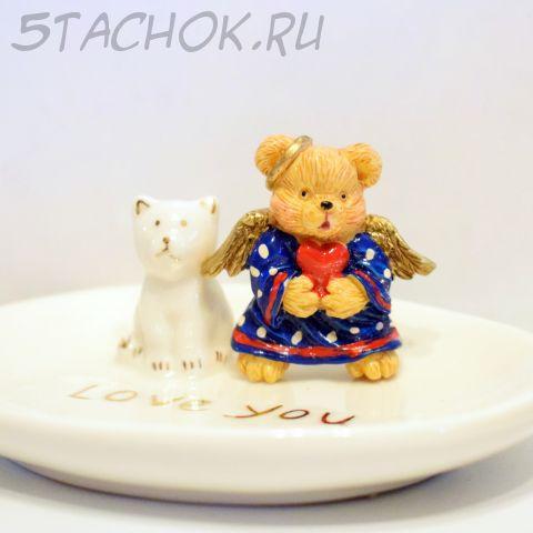 """Брошь """"Мишка-ангелочек"""" (США)"""