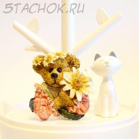 Мишка-девочка с цветочком (The Boyds Collection, США)