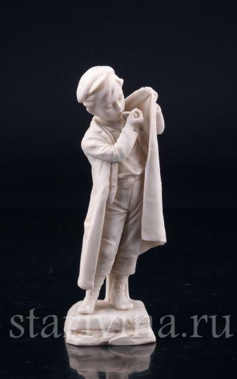 Изображение Мальчик, прикуривающий на ветру, Unger, Schneider & Cie, Германия, перв.пол.20 в