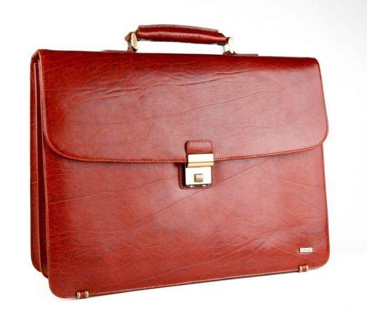 Кожаный портфель Diplomat SK-208(C) (коньяк)