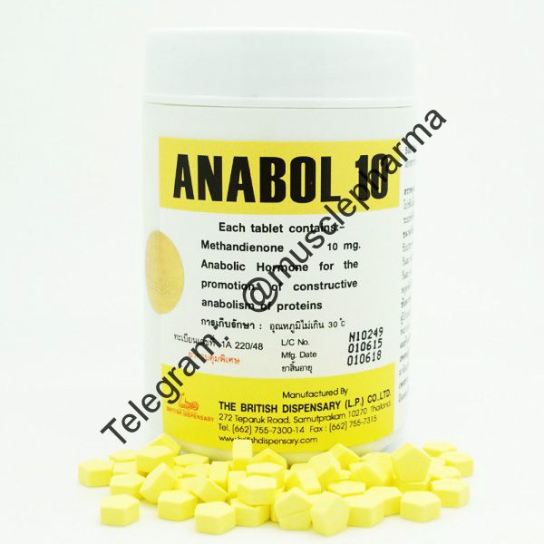 ANABOL 10 (МЕТАН). BRITISH DISPENSARY. 100 таб. по 10 мг.