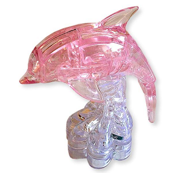 Головоломка 3D Дельфин розовый