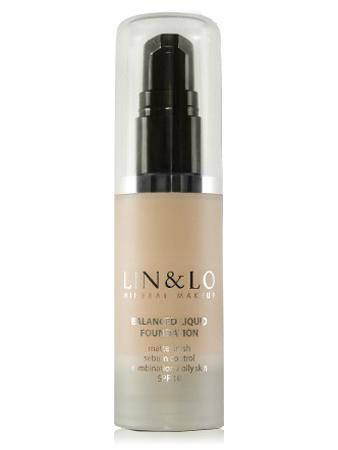 LIN&LO Тональная основа с матирующим эффектом LLFR06 нюдовый бежевый