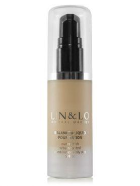 LIN&LO Тональная основа с матирующим эффектом LLFR04 медовый