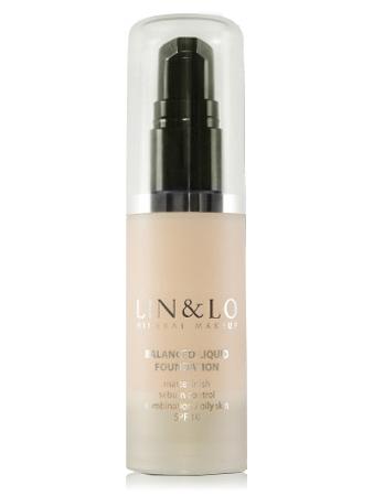 LIN&LO Тональная основа с матирующим эффектом LLFR08 бледно-бежевый