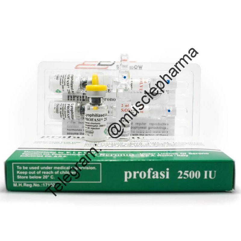 Гонадотропин PROFASI 2500 IU (3 флакона по 2500 ед + 3 амп. раствора)