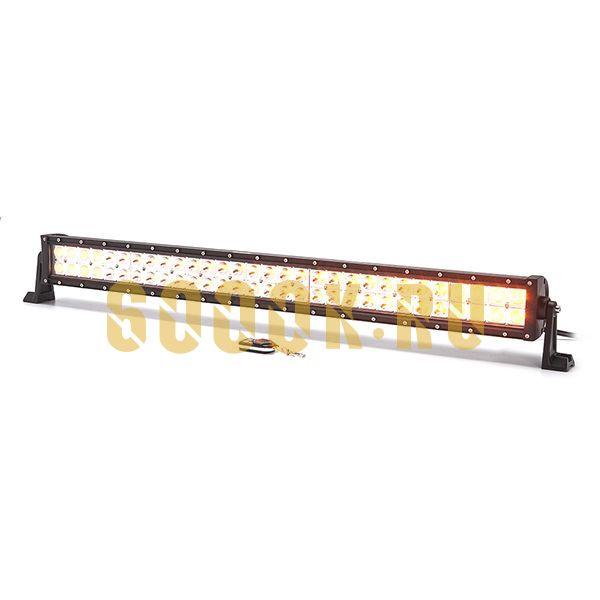 Двухрядная светодиодная LED балка 180W CREE двухрежимная (белый/желтый) combo