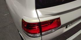 Накладки Реснички на задние фары для Toyota Land Cruiser 200 2015 -