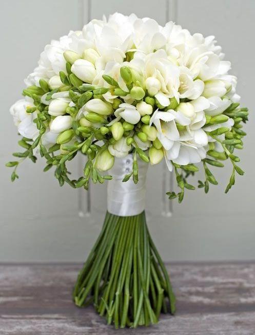 Букет невесты из фрезии «Мечта невесты»