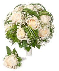 Букет невесты из кремовых роз «Кремовое наслаждение»