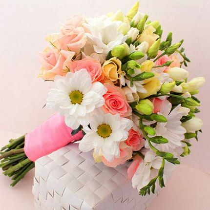 Букет невесты из розовых роз «Мой лучший день»