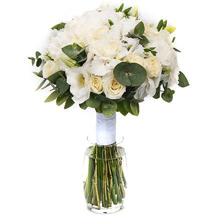 Свадебный белый букет «Нежные чувства»