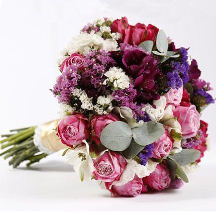 Оригинальный букет невесты «Яркая свадьба»