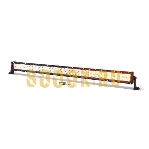 Двухрядная светодиодная LED балка 240W CREE двухрежимная (белый/желтый) combo