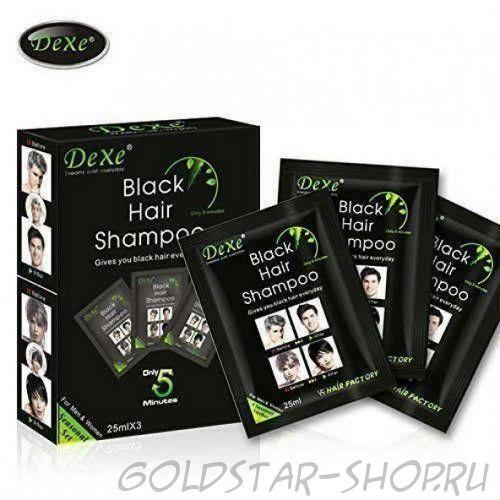 Шампунь от седины Dexe Black Hair Shampoo