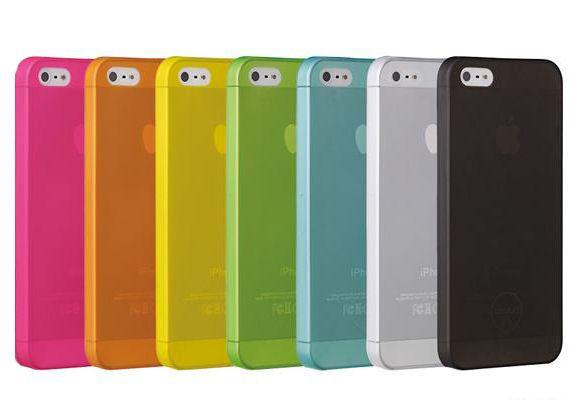 Чехол iPhone 5 5s тонкий пластик (черный)