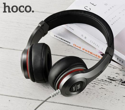 Полноразмерные наушники с микрофоном Hoco W6 Cool Hi, черный (УЦЕНКА !!! После ремонта)