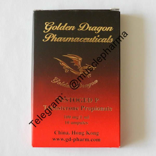 TESTOGED (ТЕСТОСТЕРОН ПРОПИОНАТ). GOLDEN DRAGON. 1 ампула * 1 мл.