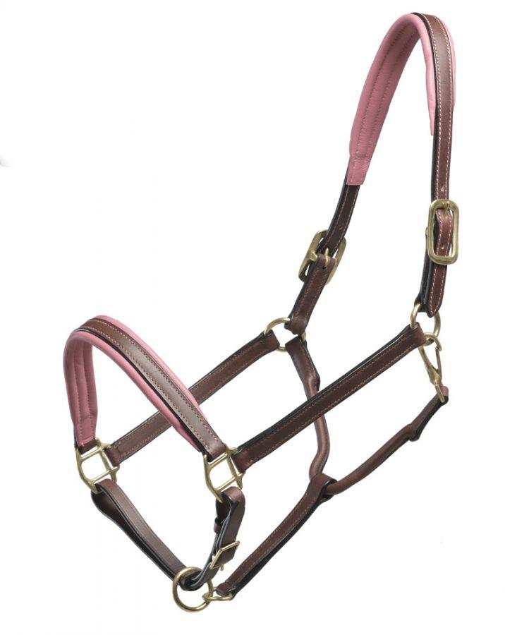 """Кожаный недоуздок """"Horse Comfort"""" с подложкой из мягкой кожи. Коричневый COB"""