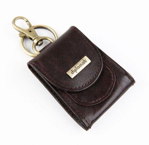 Брелок-монетница Diplomat MOGANO (темно-коричневый)