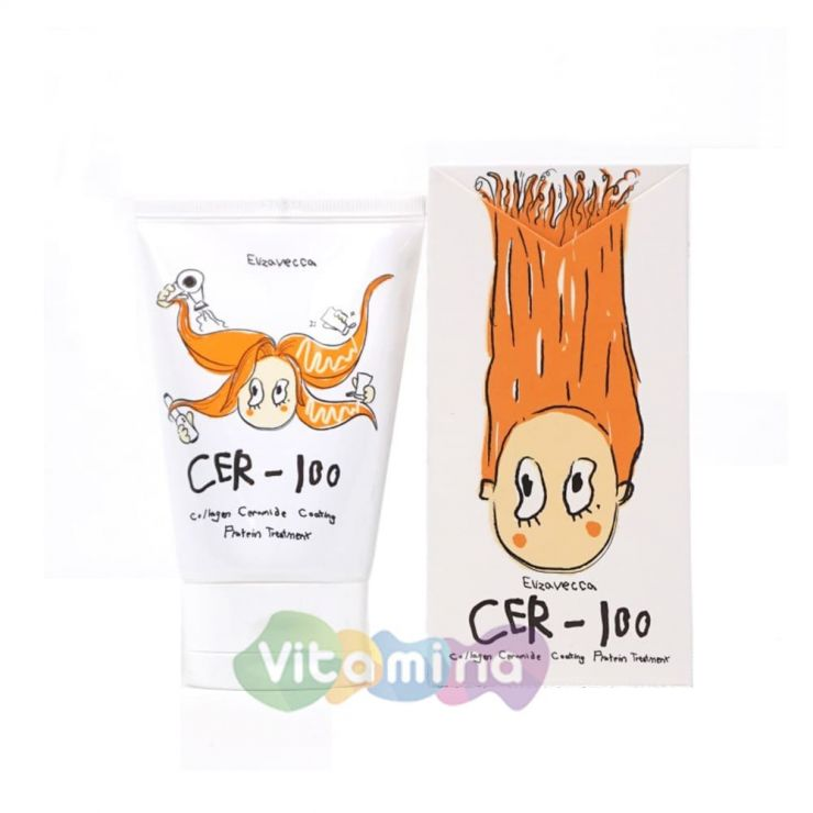 Маска для волос с коллагеном Elizavecca CER-100 Collagen Ceramid Coating Protein Treatment