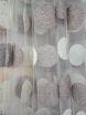 Тюль вышивка микро сетка Круги беж