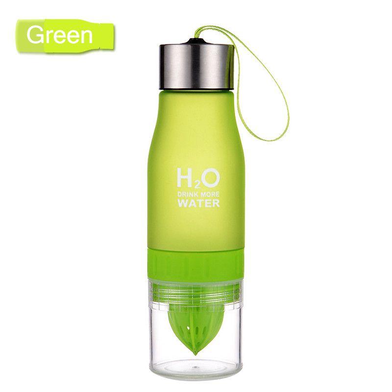 Бутылка-соковыжималка H2O Drink More Water, 650 мл (Цвет: Зеленый)