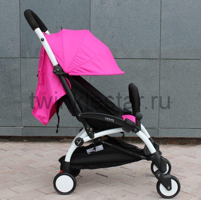 Прогулочная коляска YoYa 175 ярко-розовый + 11 подарков