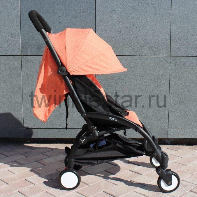 Прогулочная коляска YoYa 175 меланж оранжевый + 11 подарков