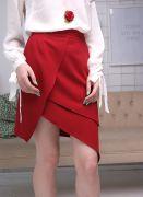 красная юбка Бутон