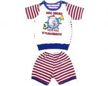 Костюм в полоску для мальчика: футболка, шорты (код 01669 или kA-KS069-SUk) нас мало но мы в тельняшках