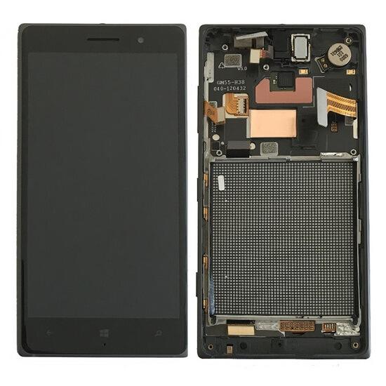 Дисплей в сборе c сенсорным стеклом и рамкой для Nokia Lumia 830 (Original)