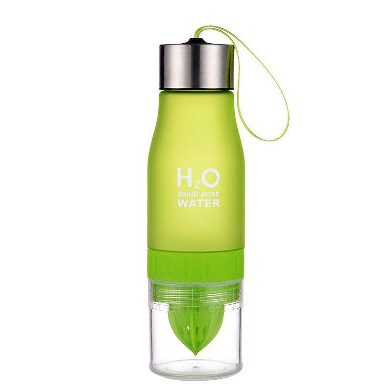 Бутылка-Соковыжималка H2O Drink More Water, 650 Мл, Цвет Зеленый