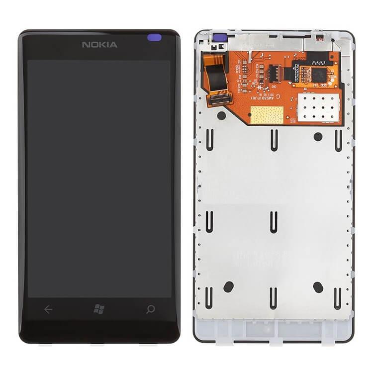 Дисплей в сборе c сенсорным стеклом для Nokia Lumia 800