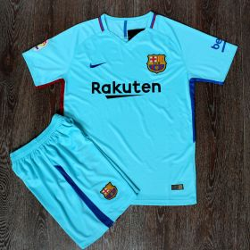 Барселона форма Nike 17-18 голубая гостевая