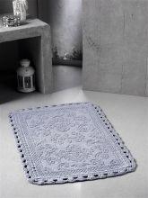 "Коврик для ванной кружевной  ""MODALIN""  DARIN 55*85 (серый)  Арт.5109-7"