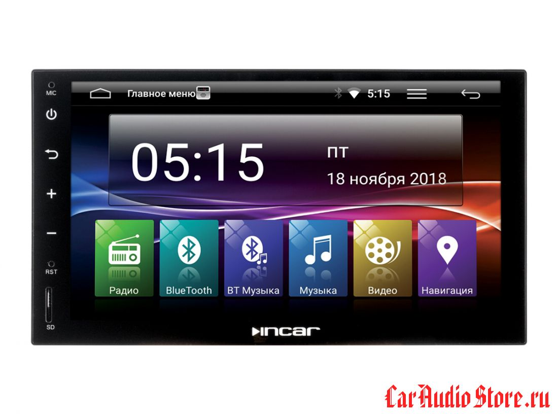 INCAR AHR-7680 UNIVERSAL 2din (Android ) 7""