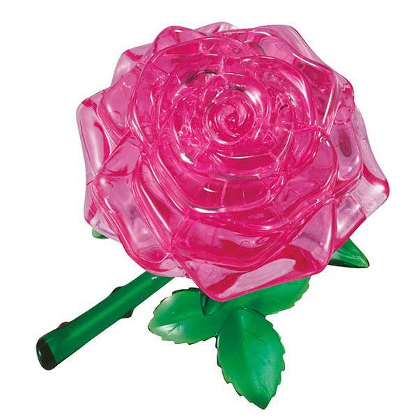 Головоломка 3D Роза розовая