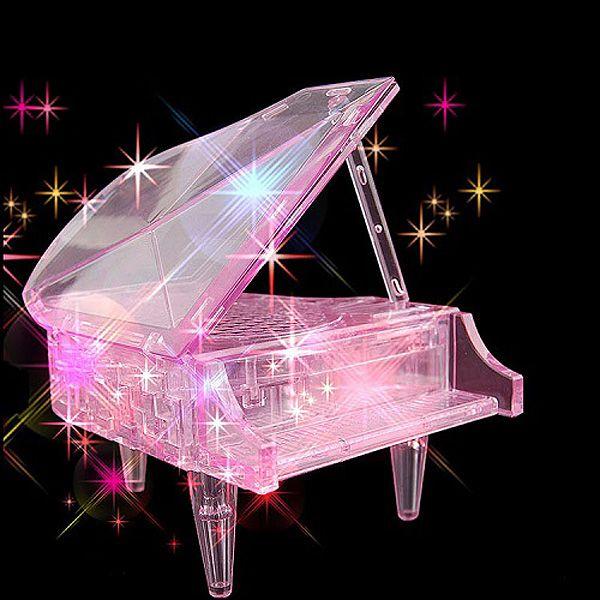 Головоломка 3D Рояль розовый
