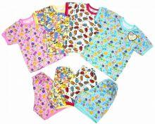 """Костюм: футболка, шорты kC-KS069-SU (супрем)   Код товара 01671   Оптом от производителя """"Мамин Малыш""""   Размеры 68-74-80   Цвет мальчикам, девочкам"""