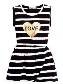 Платье в полоску для девочек 3-7 лет BN1029P4