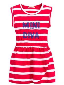 Платье в полоску для девочек 3-7 лет BN1029P2