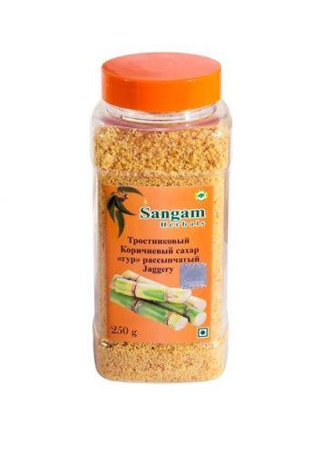 Сахар тростниковый Гур (Джагерри) не рафинированный | 250 гр | Sangam Herbals