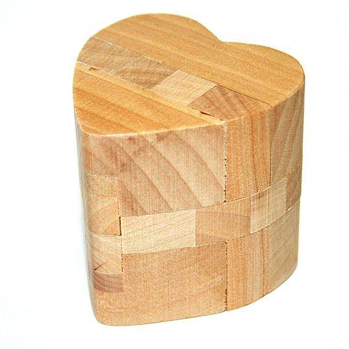 Головоломка деревянная. в кор. Сердце